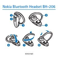 Nokia Bluetooth Headset BH-206 - Manuale duso del {0}