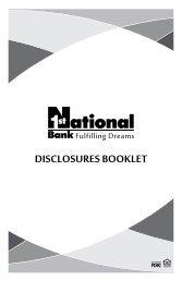 DISCLOSURES BOOKLET