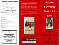HITTING & PITCHING CLINICS GIRLS