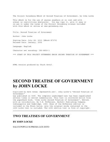 john locke second treatise of civil government pdf