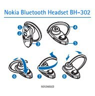 Nokia Bluetooth Headset BH-302 - Manuale duso del {0}