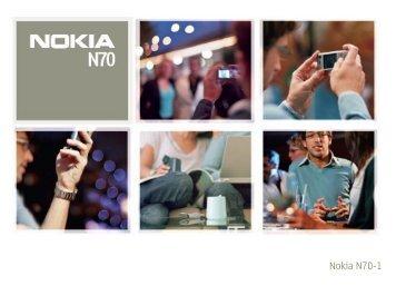 Nokia N70 - Manuale d'uso del Nokia N70
