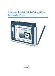 Nokia 770 Internet Tablet - Manuale duso del {0}