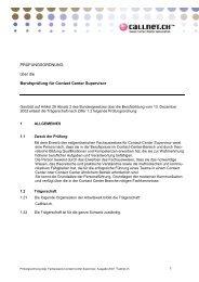 Prüfungsordnung CCSV - Callnet