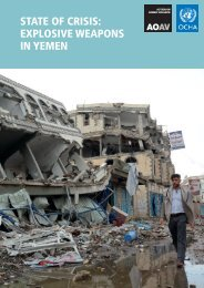 STATE OF CRISIS EXPLOSIVE WEAPONS IN YEMEN
