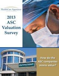 2013 ASC Valuation Survey