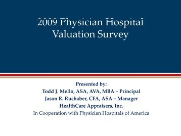 2009 Physician i Hospital Valuation Survey
