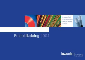 Produktkatalog 2004 - Gabriel GmbH