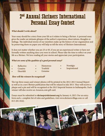 personal essay harvard