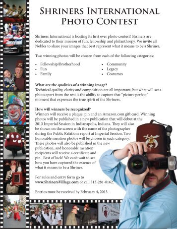Shriners International Photo Contest