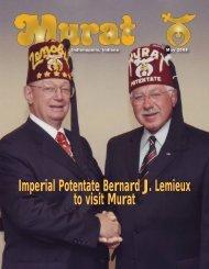 Imperial Potentate Bernard J Lemieux to visit Murat