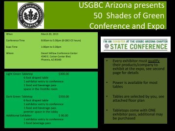 USGBC Arizona presents 50 Shades of Green Conference and Expo