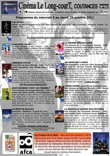 N°53 Programme du mercredi 5 au mardi 25 octobre 2011
