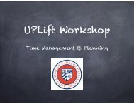 UPLift Workshop