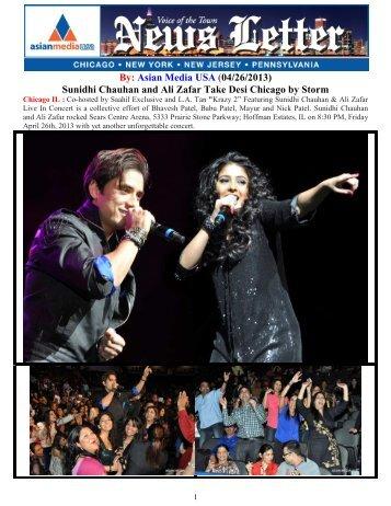 Sunidhi Chauhan and Ali Zafar Take Desi ... - Asian Media USA