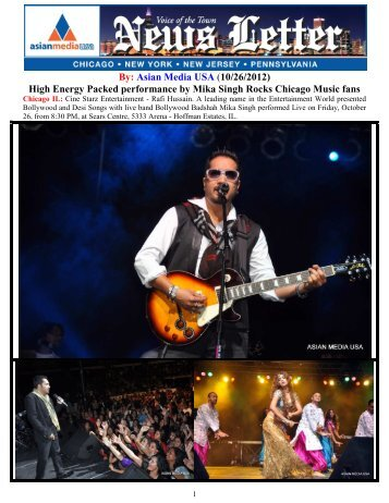 High Energy Packed performance by Mika Singh ... - Asian Media USA