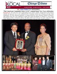 Thai American Community hosts AAAC's annual ... - Asian Media USA