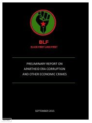 APARTHEID ERA CORRUPTION AND OTHER ECONOMIC CRIMES