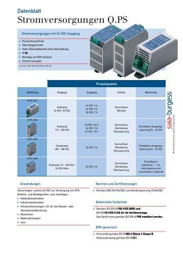 Stromversorgungen Q.PS - Contact Evolution SA