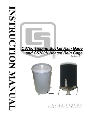 CS700 Tipping Bucket Rain Gage and CS700H Heated Rain Gage