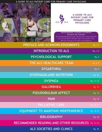 Guide to ALS Patient Care - ALS Society of Canada