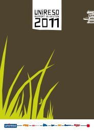 Le rapport de gestion 2011 - Unireso