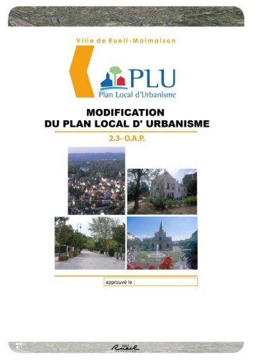 Modification du PLU révisé de Rueil-Malmaison 1