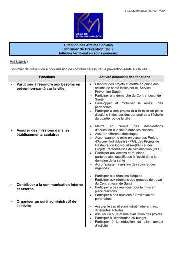MISSIONS : - Mairie de Rueil-Malmaison