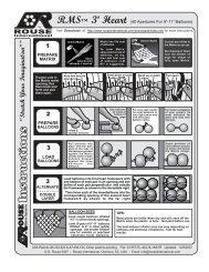 Heart 3' Flat Instructions - Rouse International