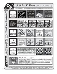 Heart 4' Flat (40 Apertures) Instructions - Rouse International