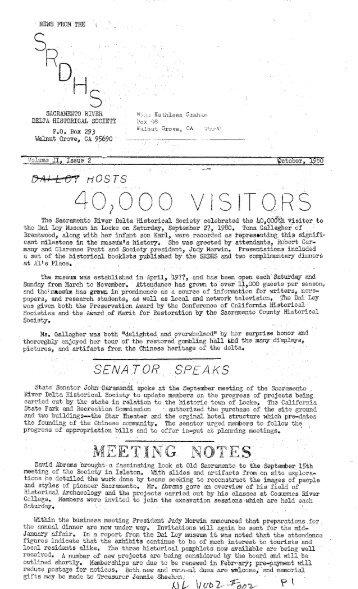 October 1980 - Sacramento River Delta Historical Society