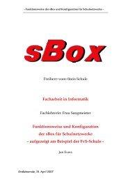 Funktionsweise und Konfiguration der sBox für Schulnetzwerke
