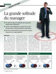 La grande solitude du manager