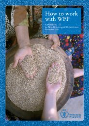 How to work with WFP