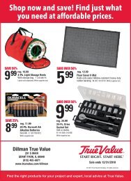Shop now and save! Find just what you need at ... - TrueValue.com