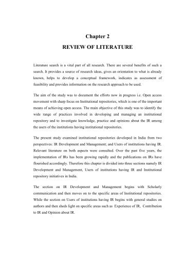 what is review of related literature