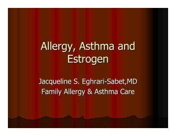 Allergy Asthma and Estrogen