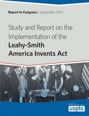 Study and Report on the Implementation of the Leahy-Smith America Invents Act