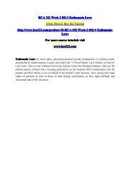 HCA 322 Week 2 DQ 1 Euthanasia Laws - hca322dotcom