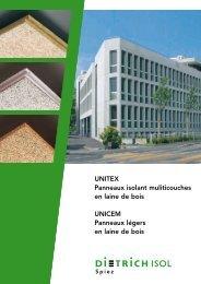 Documentation pour produit en laine de bois - Dietrich Isol AG
