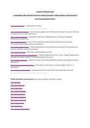 Strony internetowe, na których znajdują się informacje przydatne w ...