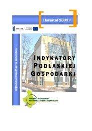 Indykatory Podlaskiej Gospodarki – I kwartał 2009r RYNEK