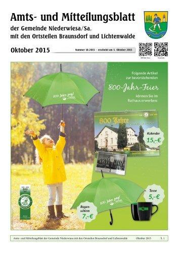 Amts- und Mitteilungsblatt Oktober 2015