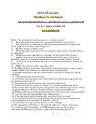 BUS 211 Week 3 Quiz/uophelp