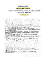 BUS 211 Week 4 Quiz/uophelp