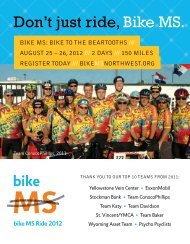 Don't just ride Bike MS