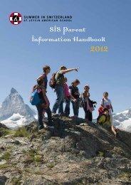 SIS Parent Information Handbook - Leysin American School in ...