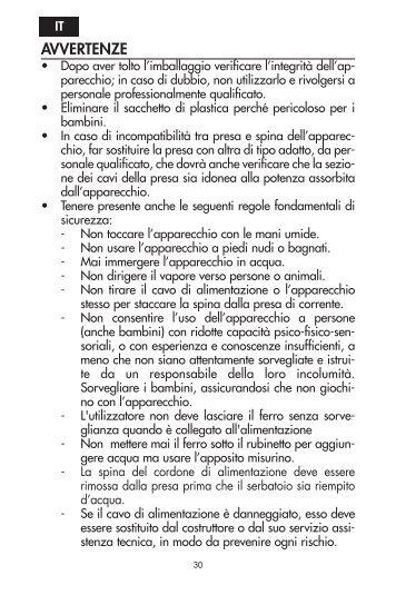 Delonghi CYGNUS FXN25AG - IT - De'Longhi - CYGNUS FXN25AG - Libretto istruzioni