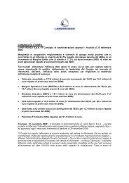 Il Consiglio di Amministrazione approva i risultati al ... - Landi Renzo