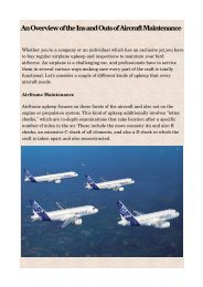 An Overview of the Ins and Outs of Aircraft Maintenance